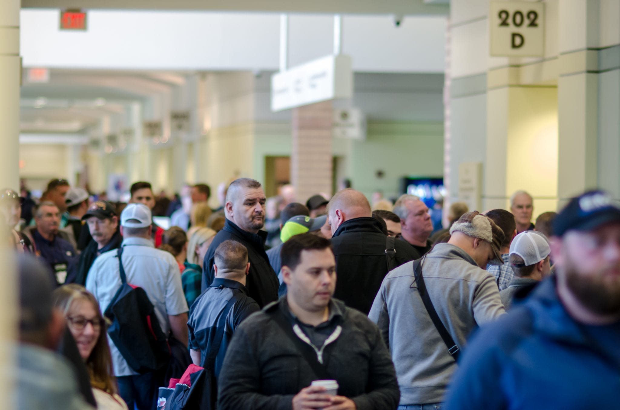 Conference attendees and exhibitors in concourse area | Texas EMS Conference | Austin, TX