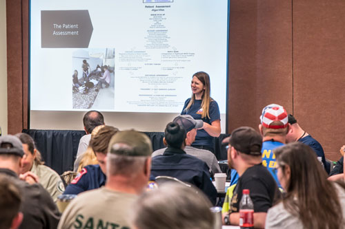 Instructor in front of class at Texas EMS Conference | Texas EMS Conference | Austin, TX