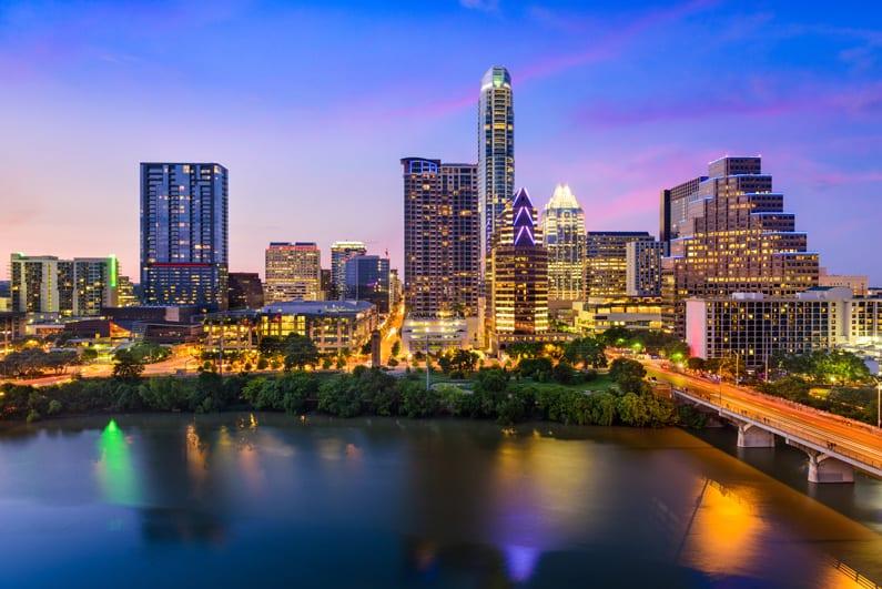 Downtown Austin Skyline at Dusk   Texas EMS Conference   Austin, TX
