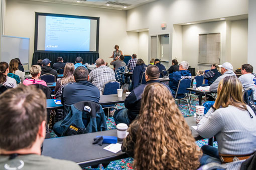 Conference attendees listening in class | Texas EMS Conference | Austin, TX